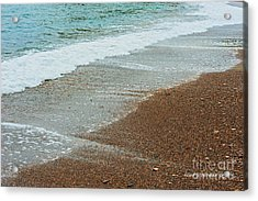 Ocean Wave Color Palette Acrylic Print by Artist and Photographer Laura Wrede