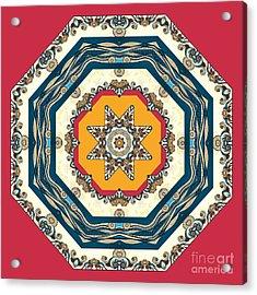 Ocean Waves - Mandakal 04cm22a Acrylic Print by Aimelle