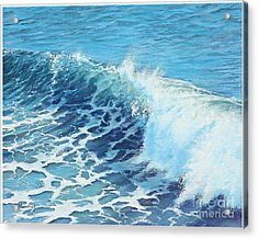Ocean's Might Acrylic Print by Joe Mandrick