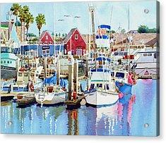 Oceanside California Acrylic Print by Mary Helmreich