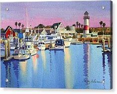 Oceanside Harbor At Dusk Acrylic Print by Mary Helmreich