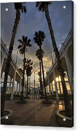 Oceanside Pier Entrance Acrylic Print by Peter Tellone