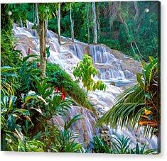 Ocho Rios Jamaica Acrylic Print by Cliff Wassmann
