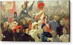 October 17th 1905 Acrylic Print by Ilya Efimovich Repin