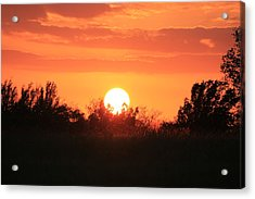 October East Texas Sunset Acrylic Print by Lorri Crossno