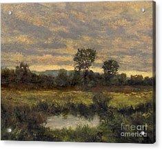 October Evening Storm Acrylic Print by Gregory Arnett