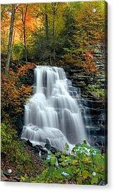 October Foliage Surrounding Erie Falls Acrylic Print by Gene Walls