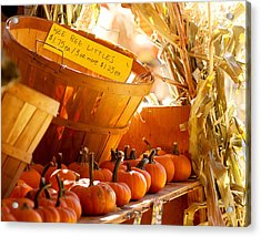 October Market Acrylic Print by Jim Garrison