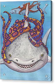 Octopied Acrylic Print by Catherine G McElroy