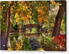 Ode To Autumn Acrylic Print by Donna Kennedy