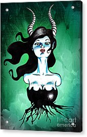 Ode To Maleficent Acrylic Print by Christopher Moonlight