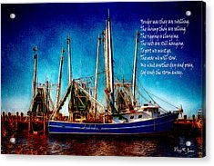 Ode To Shrimpers Acrylic Print by Barry Jones
