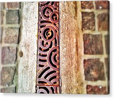 Of Stone And Steel Acrylic Print by Olivier Calas