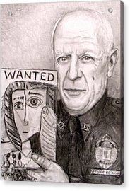 Officer Picasso Police Sketch Artist Acrylic Print by Jack Skinner