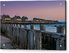 Officers' Row Acrylic Print by Kristopher Schoenleber