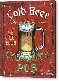 O'grady's Pub Acrylic Print by Debbie DeWitt