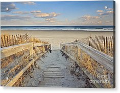 Ogunquit Beach Boardwalk Acrylic Print by Katherine Gendreau