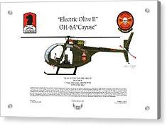Oh-6a Electric Olive II Loach Acrylic Print by Arthur Eggers
