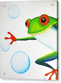 Oh Bubbles Acrylic Print by Oiyee At Oystudio