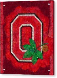 Ohio State Buckeyes On Canvas Acrylic Print by Dan Sproul