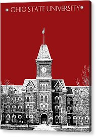 Ohio State University - Dark Red Acrylic Print by DB Artist