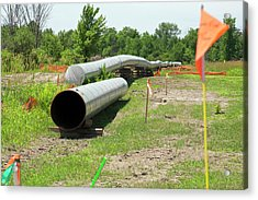 Oil Pipeline Construction Acrylic Print by Jim West