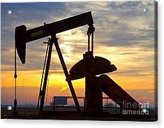 Oil Pump Sunrise Acrylic Print by James BO  Insogna