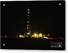 Oil Rig Acrylic Print by Jeff Swan