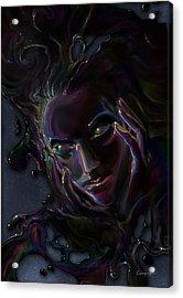 Oil Spill Acrylic Print by Cassiopeia Art