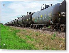 Oil Tanker Train Acrylic Print by Jim West