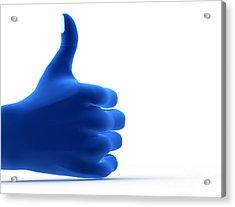 Okay Gesture Acrylic Print by Michal Bednarek