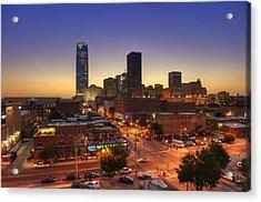 Oklahoma City Nights Acrylic Print by Ricky Barnard