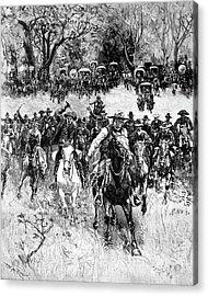 Oklahoma Land Rush, 1891 Acrylic Print by Granger