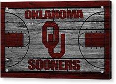 Oklahoma Sooners Acrylic Print by Joe Hamilton