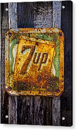 Old 7 Up Sign Acrylic Print by Garry Gay