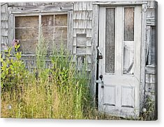Old Abandoned Building In Maine Acrylic Print by Keith Webber Jr