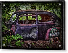 Old Abandoned Car In The Woods Acrylic Print by Paul Freidlund