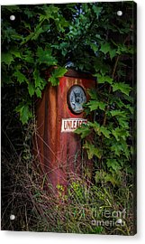 Old Abandoned Gasoline Pump Acrylic Print by Edward Fielding