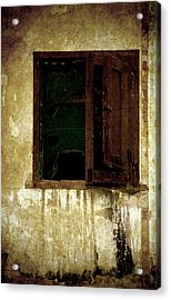 Old And Decrepit Window Acrylic Print by RicardMN Photography