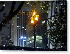 Old And New Lamp Posts - Paulista Avenue Acrylic Print by Carlos Alkmin
