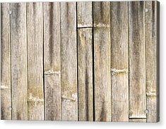 Old Bamboo Fence Acrylic Print by Alexander Senin