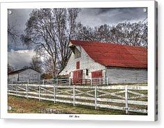 Old Barn Acrylic Print by Gina Munger
