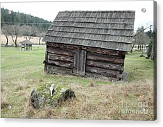 Old Barn Acrylic Print by Graham Foulkes