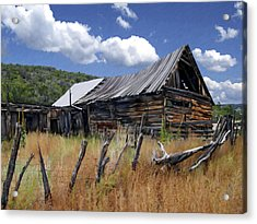 Old Barn Las Trampas New Mexico Acrylic Print by Kurt Van Wagner