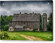 Old Barn On A Stormy Day Acrylic Print by Paul Freidlund
