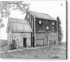 Old Barn Acrylic Print by Sarah Batalka