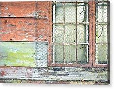 Old Barn Window Acrylic Print by Tom Gowanlock