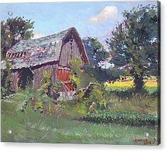 Old Barns  Acrylic Print by Ylli Haruni