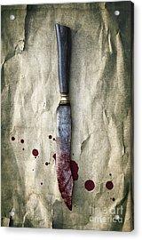 Old Bloody Knife Acrylic Print by Carlos Caetano