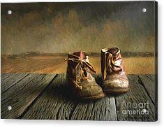 Old Boots Acrylic Print by Veikko Suikkanen